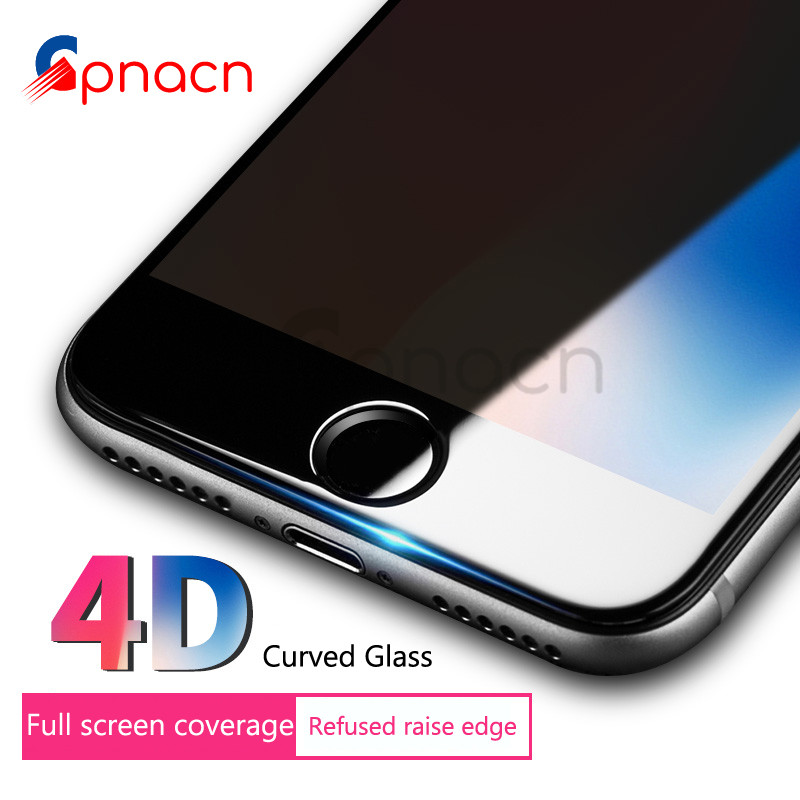 Galleria fotografica 4D (2nd Gen 3D) Tempered Glass For iPhone 8 7 plus Full Cover Protective Premium For iPhone 6 6s Plus Screen Protector Film