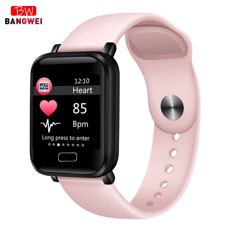 2019 Novas Mulheres relógios Desportivos À Prova D' Água Para O telefone do Iphone Smartwatch Inteligente Funções de Pressão Arterial Monitor de Freqüência Cardíaca Para O miúdo