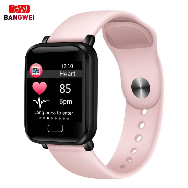 2019 novas mulheres relógios inteligentes à prova dwaterproof água esportes para iphone telefone smartwatch monitor de freqüência cardíaca funções pressão arterial para o miúdo