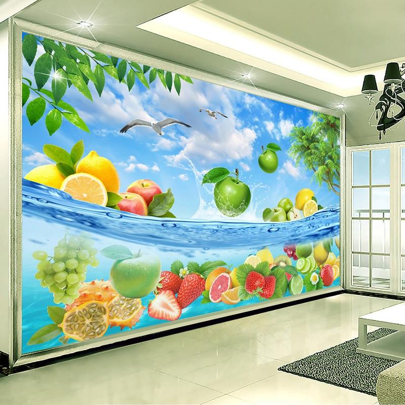 Custom 3D Photo Wallpaper 3D HD Fruit Background Wall Painting Modern Simple Living Room TV Backdrop Large Mural Papel De Parede