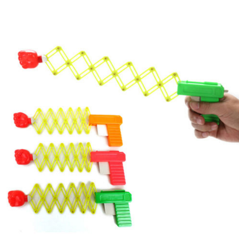 Safety Flexible Stretching Fist Gun Toy Elastic Stretch Gun Toy Children Practical Joke Toy