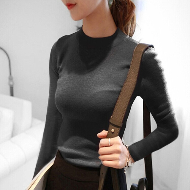 2017 thickening cotton Sweater Winter Womens Sweaters Fashion Womens Sweater and Pullovers Turtleneck Knitted Sweater