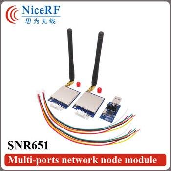 2sets 500mW 868MHz RS232 transceptor de interfaz para SNR651 + 2 uds antenas + 2 uds USB puente Junta