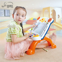 Original Painting Doodle Baby Drawing Board Toys With Magnetic Seals Kids Plastic Vertical Writing Board Music