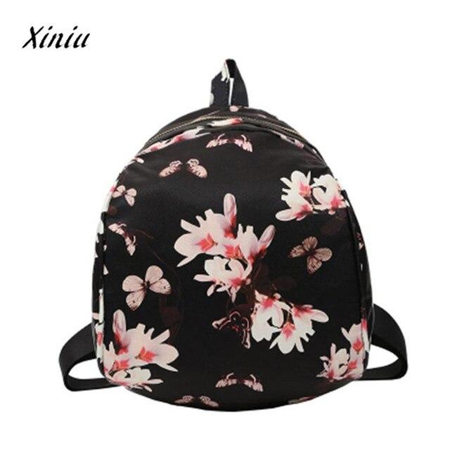 45da14944677 Women s Fashion Leather Floral Printed School Bag Travel Backpack Women Bag  backpacks for teenage girls Mochila
