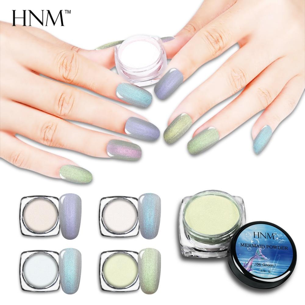 HNM Nail Art Powder Pigment Nail Glitter Dip Powder Chrome Bling ...