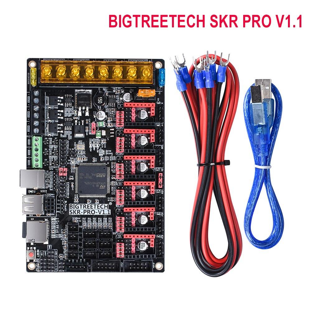 BIGTREETECH SKR PRO V1.1 32 bits carte de contrôle WIFI pièces d'imprimante 3D Vs rampes MKS Gen V1.4 avec pilote TMC2208 A4988 TMC2130