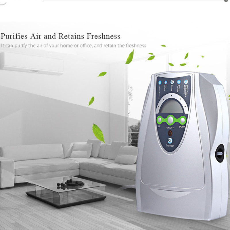 Генератор озона Воздухоочистители бытовой Портативный озона Дезинфектор для фруктов, овощей air стерилизации воды с вилкой ЕС/США