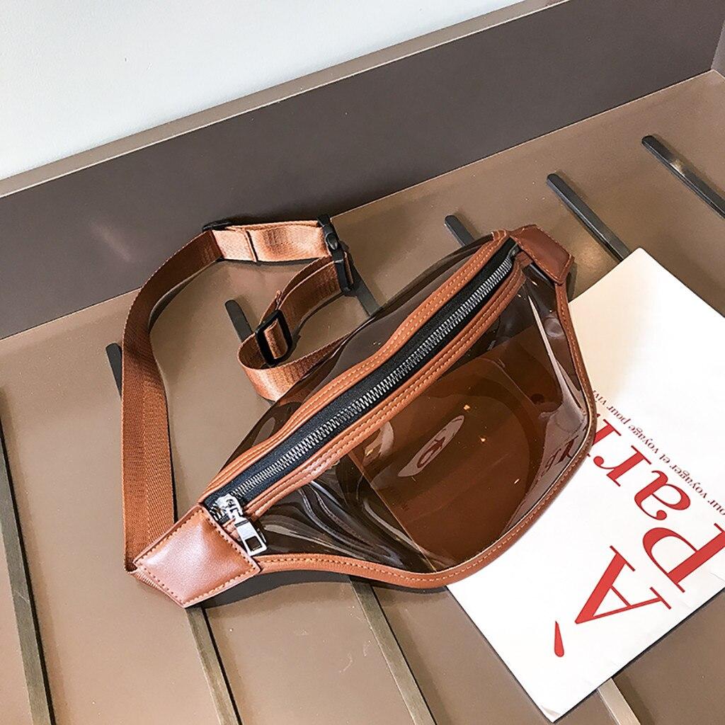 Women Waist Bag Fashion Simple Transparent Pocket Wild Messenger Chest Bag Sac Ceinture Femme Sac Banana Bel Cantasi