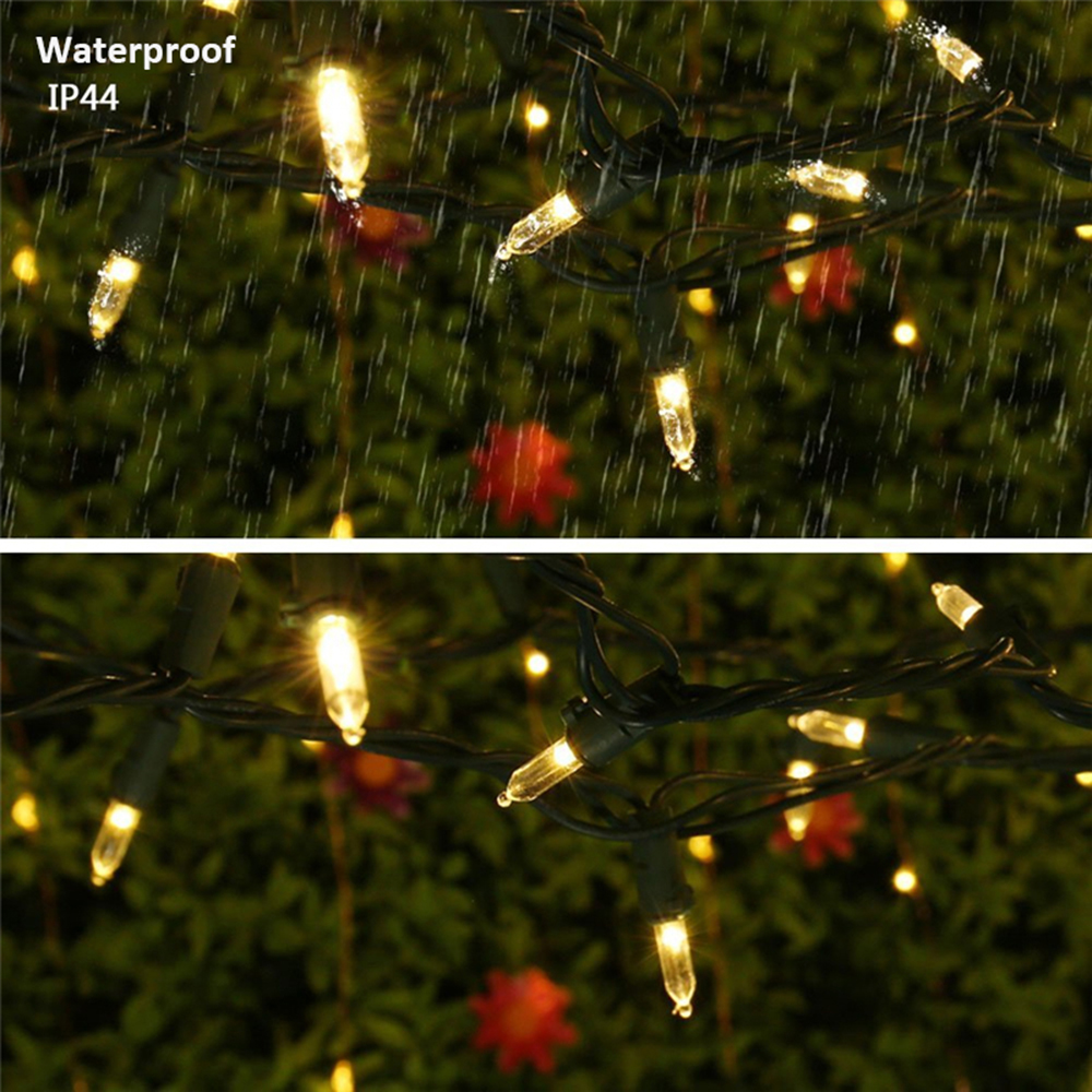 zinuo led mini string lights m5 100leds solar fairy christmas lighting for outdoor garden patio wedding holiday party decoration in led string from lights