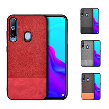 For Samsung Galaxy A8S 2018 Case A7 Fabric Cloth Silicone Soft Cover Fundas A8 A9S A6 Plus case
