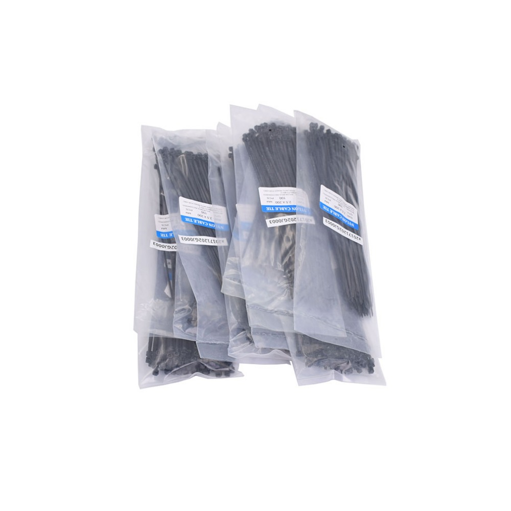 "8/"" Reusable Cable Zip Ties Heavy Duty Releasable 45 lb Nylon Black Wire Wrap"