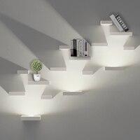 AC85V~265V surface mounted LED wall lamp aluminum+wood shadow effect wall lights living room loft wall decor lighting Sconce