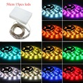 Hot Sale Waterproof  50CM 3.6W (1.65 feet)  RGB 15LEDS 5050SMD Strip Lights with Battery Box Craft Hobby Light