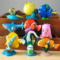 9 Pcs Set Cartoon Movie Finding Dory Nemo Marlin Bruce Crush Clownfish Mini PVC Figures Collectible