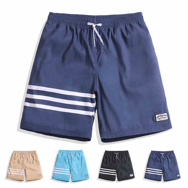 Summer Swimwear Men Stripe Surfing Swimming   Board     Shorts   Quick Dry Sea Sports Hot Spring Bermudas Trunks Masculino Boardshort