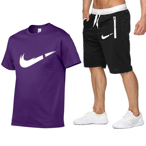 2019 New Brand Sets Summer Men Tees + Shorts Sets Summer Special Offer Comfortable Cotton Short Sleeve T-shirt Casual Style Set Multan
