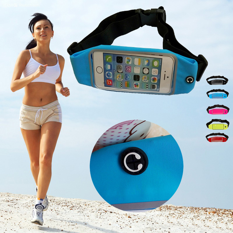 Waist bags with belt zipper case cover for OPPO U3 N3 R1C Joy Plus outdoor sports gym pack pouch pocket for the phone under