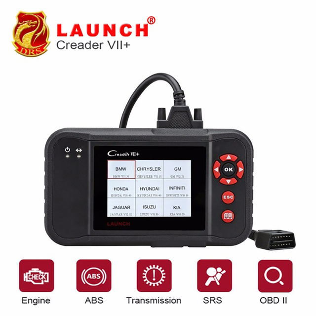 Best Price Launch Creader VII+ VII plus Creader CRP123 Diagnostic Tool OBD2 Scanner OBDII Diesel Tools Auto Code Reader ABS Launch Scanner