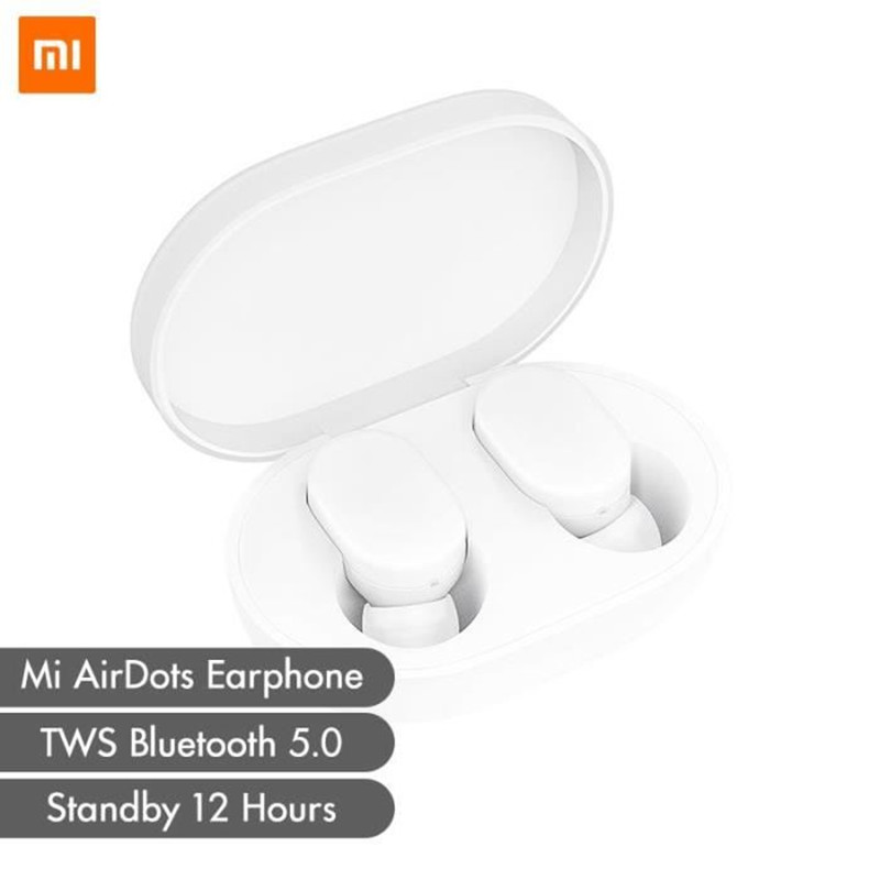 Original xiaomi Bluetooth headset AirDots youth version elegant and simple Split headset storage charging box Bluetooth 5.0 touc