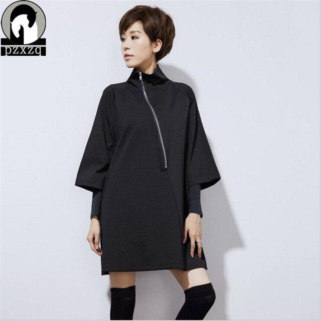 Negro 2019 primavera nueva llegada pulóver Chaquetas de moda para Mujer  Abrigos básicos mujeres recortado abrigo tres cuartos
