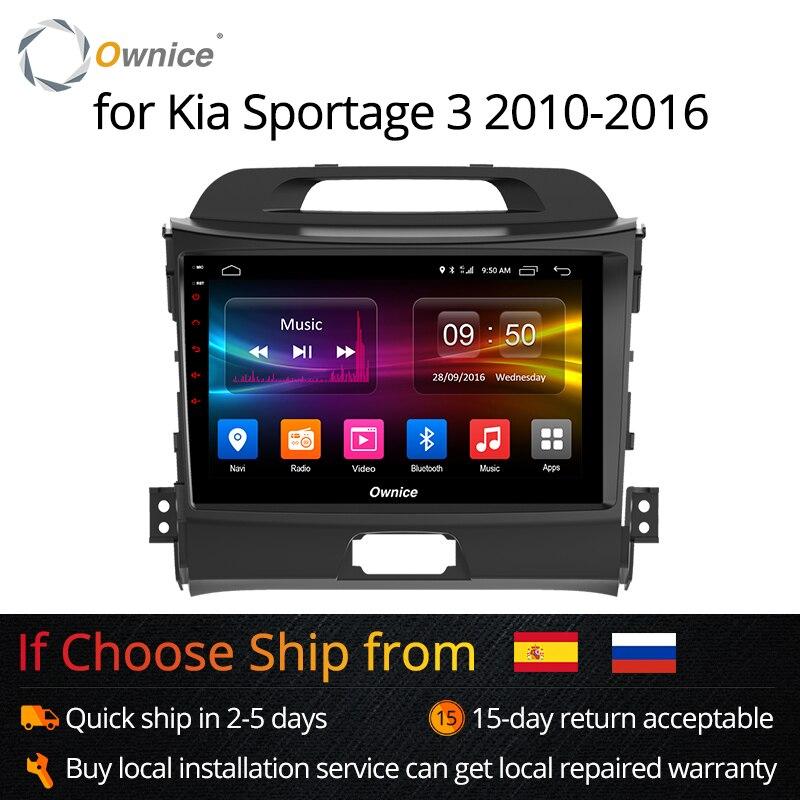 Ownice KX5 K1 K2 Android 8.1 oito Núcleo para KIA Sportage 2016 3 2 4 2007-2016 Rádio Do Carro din Navegação GPS suporte ao jogador 4G LTE DVR