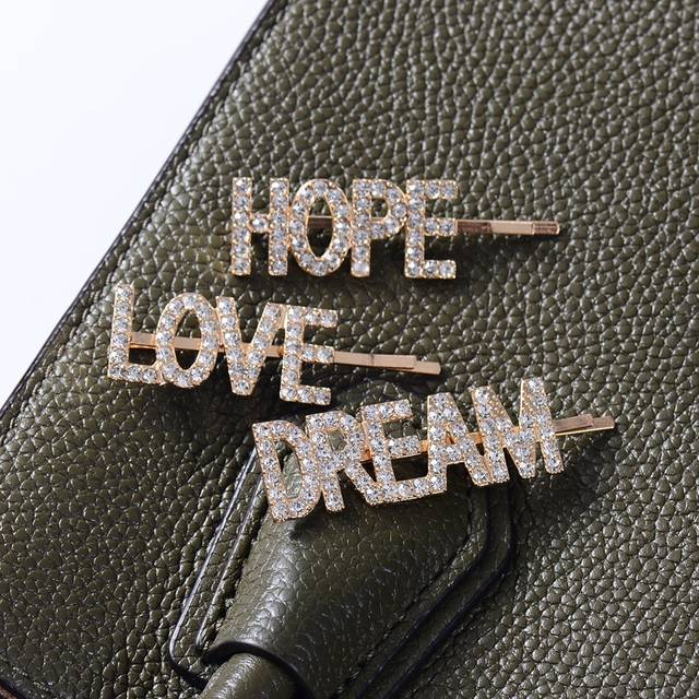 fd345202e4 DANZE 1PC Gold Fashion Luxury Bling Letters LOVE HOPE DREAM Hairpins  Headwear for Women Girls Hair Clips Pins Hair Accessories