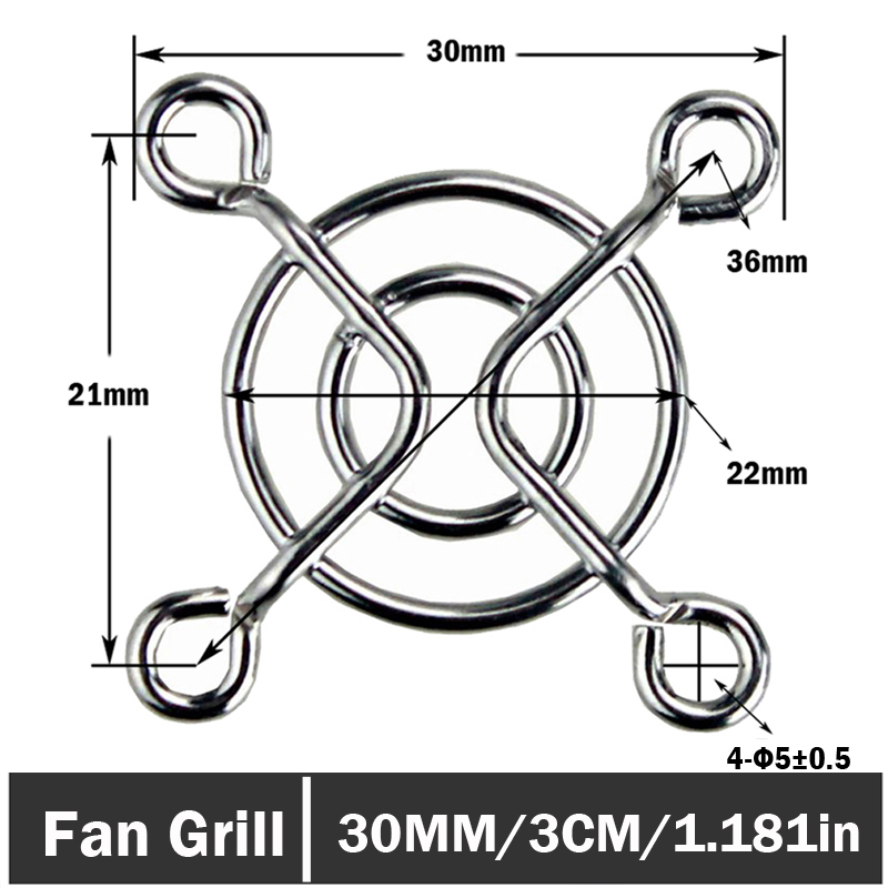 60pcs lot Metal Computer Case Cooling PC Fan Grill Finger Guard Protector 30mm 3CM in Fans Cooling from Computer Office