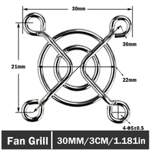 60pcs/lot Metal Computer Case Cooling PC Fan Grill Finger Guard Protector 30mm 3CM