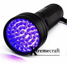 Xtremecraft 51 UV LED Scorpion Detector Hunter Finder Ultra Violet Blacklight Flashlight Torch Light Lamp AA 395nm 5W