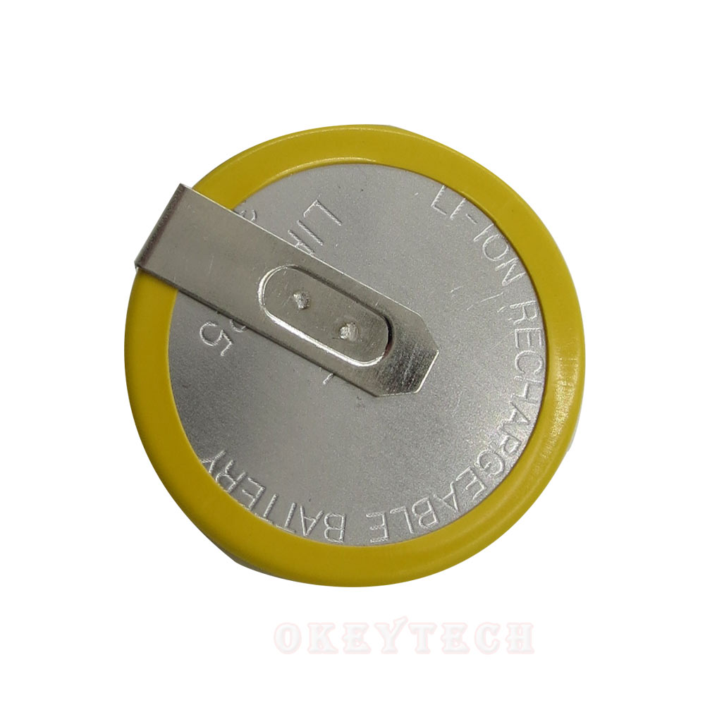 OkeyTech Rechargeable LIR 2025 Battery 3.6V For BMW key e46 e39 e36 e38 e34 Remote Car Key Shell Cover Case Brand Button Battery(China)