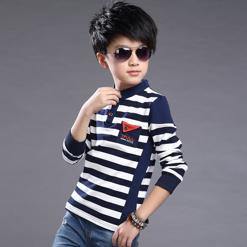 4159bd2fa848 New Design Fashion Kids Clothes Boys 2016 Spring Big Virgin Striped ...