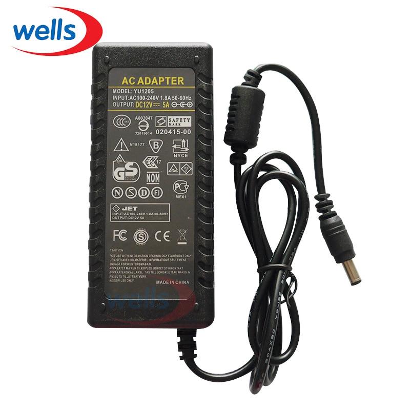 LED Driver AC 100 V 240 a DC 12 V 5A fuente de alimentación cargador adaptador transformador 220 V 12 V Convertidor para 3528 5050 Led tira de luz