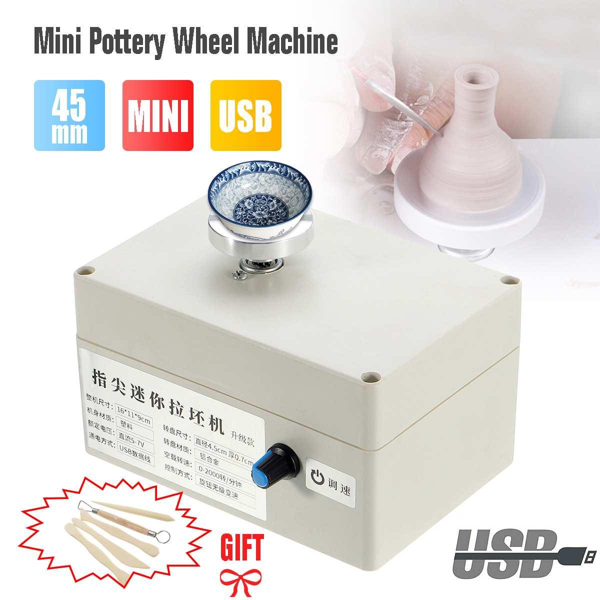 Mini USB argile faisant la Machine de poterie pistolet à Air chaud pour bricolage en céramique artisanat Art outil