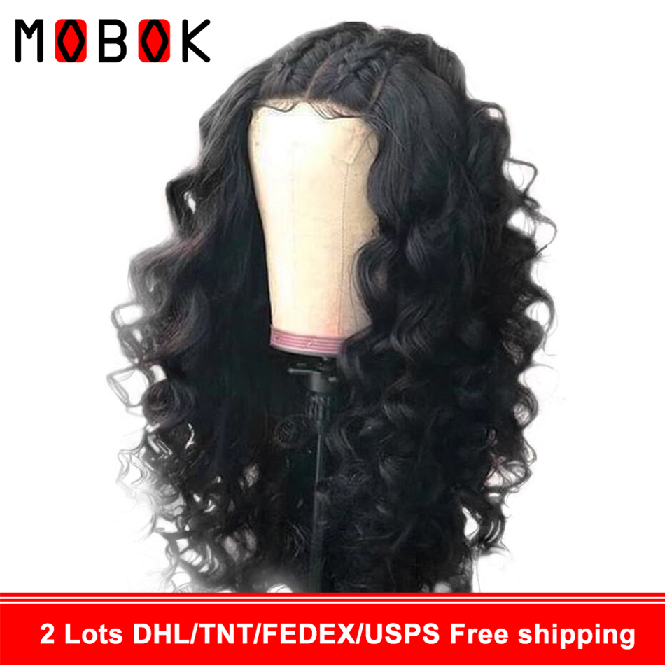 Mobok 360-Peruvian Wig Lace-Wig Human-Hair-Wig Body-Wave Pre-Plucked Women for