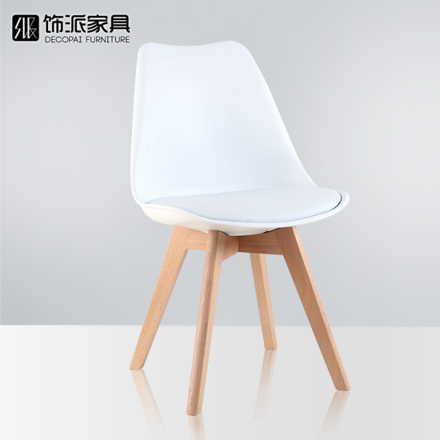 Tulip Wood Lounge Chair . Chair Cushion Designer Dining Chairs Minimalist  Fashion Creative Computer
