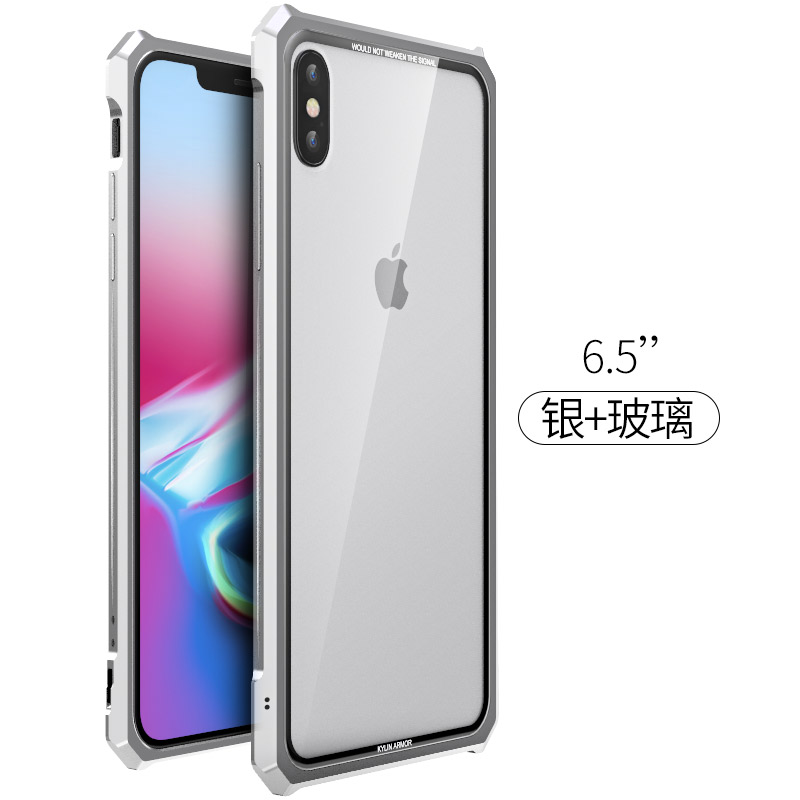 Image 5 - High end ultra thin metal frame Tempered glass mirror shell For  Iphone XS case cover FOR XS MAX FOR XR metal caseFitted Cases   -