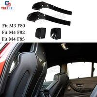 M3 M4 Carbon Fiber Seat Shells Cover For BMW M3 F80 Sedan M4 F82 F83 Coupe Cabriolet 2014 + 4pcs / 1 set