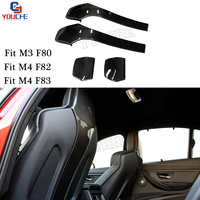 M3 M4 Carbon Fiber Seat Shells Cover For BMW M3 F80 Sedan M4 F82 F83 Coupe Cabriolet 2014 + 4pcs / 1 set