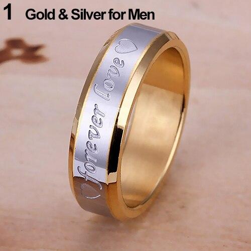 Для женщин Для мужчин навсегда любовь группа Обручение кольца гравировка Пара Обещание Нержавеющаясталь