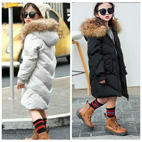 2018 new girls casual fashion winter warm white duck down jacket цена и фото