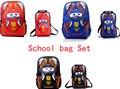 ГОРЯЧИЕ продажи ЕВА Автомобили мешок Школы набор Детей рюкзаки дети Мальчики Девочки детские сумки для начальной школы