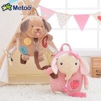 שקיות תינוק ילדי Metoo קריקטורה בעלי חיים לילדים בובת ארנב אנג 'לה ילדה תיק כתף ילדי צעצוע גן ילדים תרמילי קטיפה S47