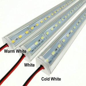 Image 3 - 5 adet/grup duvar köşe LED Bar ışık DC 12V 50cm SMD 5730 sert LED şerit ışık için mutfak kabine altında