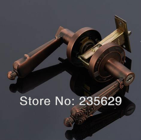 Free Shipping, Bedroom, Bathroom, Kitchen Door Lock, Antique Brass or  Antique Copper finished, 35-45mm door thickness free shipping bedroom bathroom kitchen door lock antique copper finished lock 35 45mm door thickness double bolts
