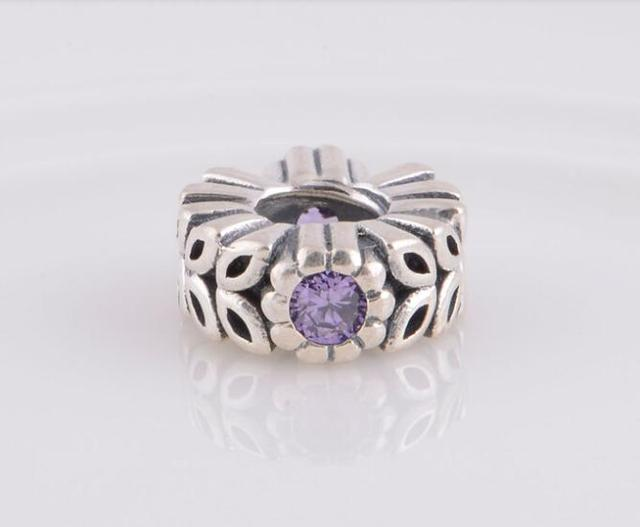 485b0da93 new zealand pandora flower spacer purple flower 8e266 d4a37