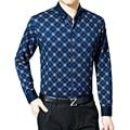Chemise Homme Manche Longue Plus Asian Size M-XXXL Men's Plaid Long Sleeve Shirt Man Clothing 47