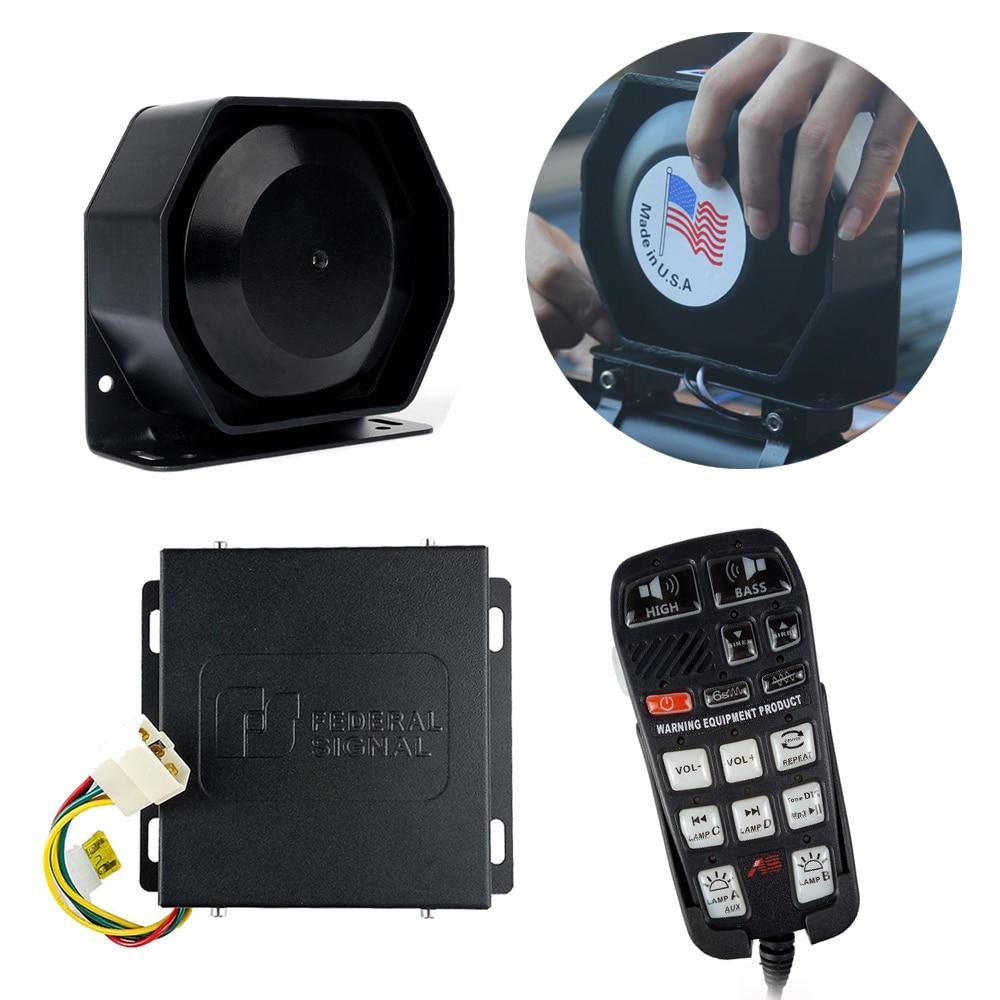 Vehicle Emergency Warning Horns Super Loud Alarm Siren 200W Sound Tone Police Fire Horn Loudspeaker 120