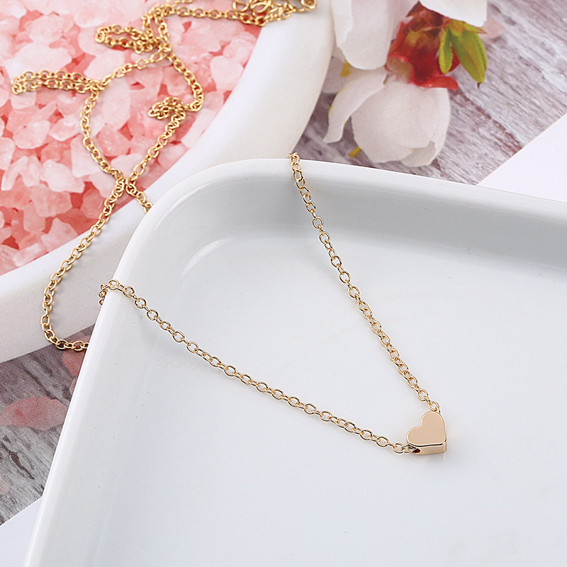 Gentle Heart Pendant Necklace Gold Silver Color Clavicle Chain 2018 Fashion Jewellery Delicate Women Necklaces Kettingen Voor Vrouwen Terrific Value Jewelry & Accessories