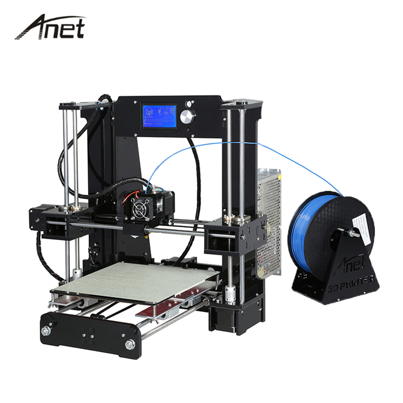 Anet A6 3D Printer Large Size High Precision Electronic Impresora 3D DIY Kit Imprimante with Gift Filament  16G SD Card Tools 2017 anet a8 3d printer high precision reprap impressora 3d printer kit diy large printing size with 1rolls filament 8gb sd card